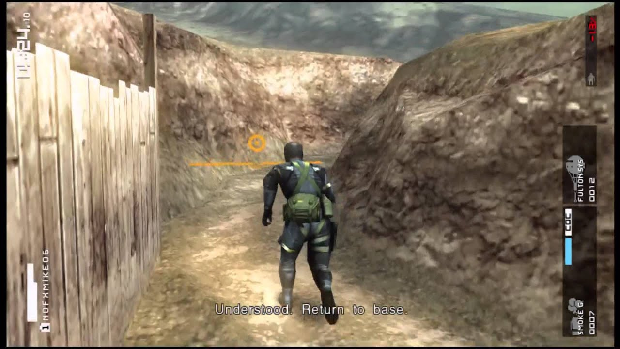 Mgs Peace Walker Hd Extra Ops 53 S Rank Youtube