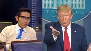Shanghai Tv Reporter Hides Truth When Questioned By Trump During Ccp Virus Briefing | Ntd