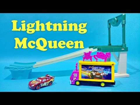 Cars 2 Lightning McQueen Neon Nights Track Playset Disney Pixar Cars Toy For Kids Worldwide