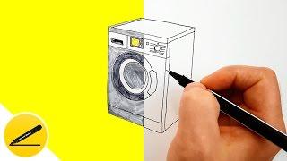 Как Нарисовать Стиральную Машину | Рисуем Стиральную Машину | Бытовая Техника(Как нарисовать стиральную машину. В этом видео я показываю как нарисовать стиральную машину (бытовая..., 2016-08-23T04:59:48.000Z)