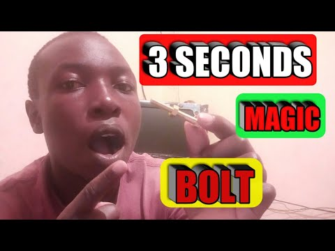 HOW TO OPEN BOLT IN 3 SECONDS