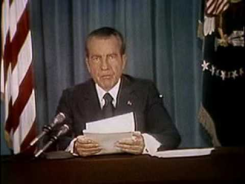 President Nixon speaks from White House on Watergate