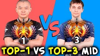 TOP-1 vs TOP-3 - MidOne vs Arteezy never give up COMEBACK