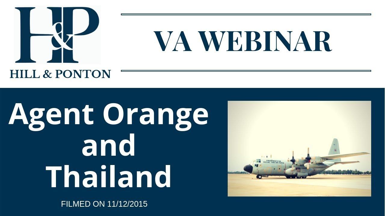 Agent Orange and Thailand Veterans Webinar