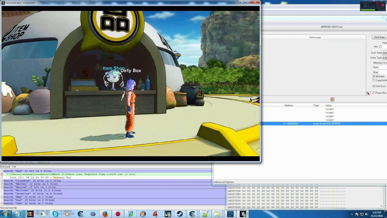 DRAGON BALL XENOVERSE 2 Shop Editing Proof V2