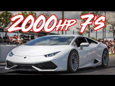2000HP Drag Lamborghini Huracan goes 7s! - INSANE ACCELERATION