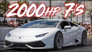 2000HP Drag Lamborghini Huracan goes 7's! - INSANE ACCELERATION