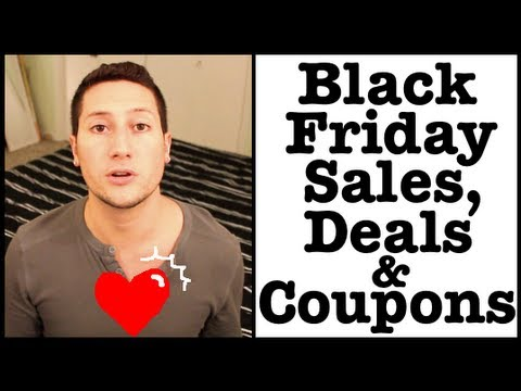 Black Friday 2012 Sales, Deals and Coupon Codes! (Cyber Monday!)