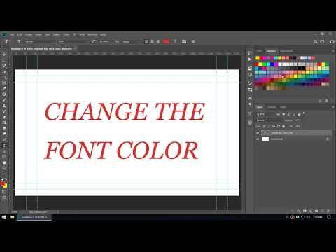 Adobe Photoshop Tutorial : Multiple ways to change font color thumbnail