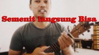 belajar main ukulele 60 detik bisa satu lagu pelajaran untuk pemula
