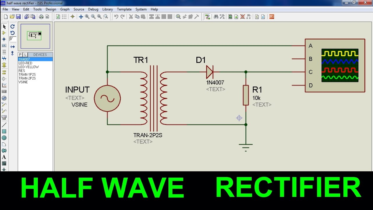 Half wave and full wave Rectifier Lab manual