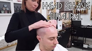 💈 Barber Girl | Relaxing Head Shave with Massage | BINAURAL ASMR no talking