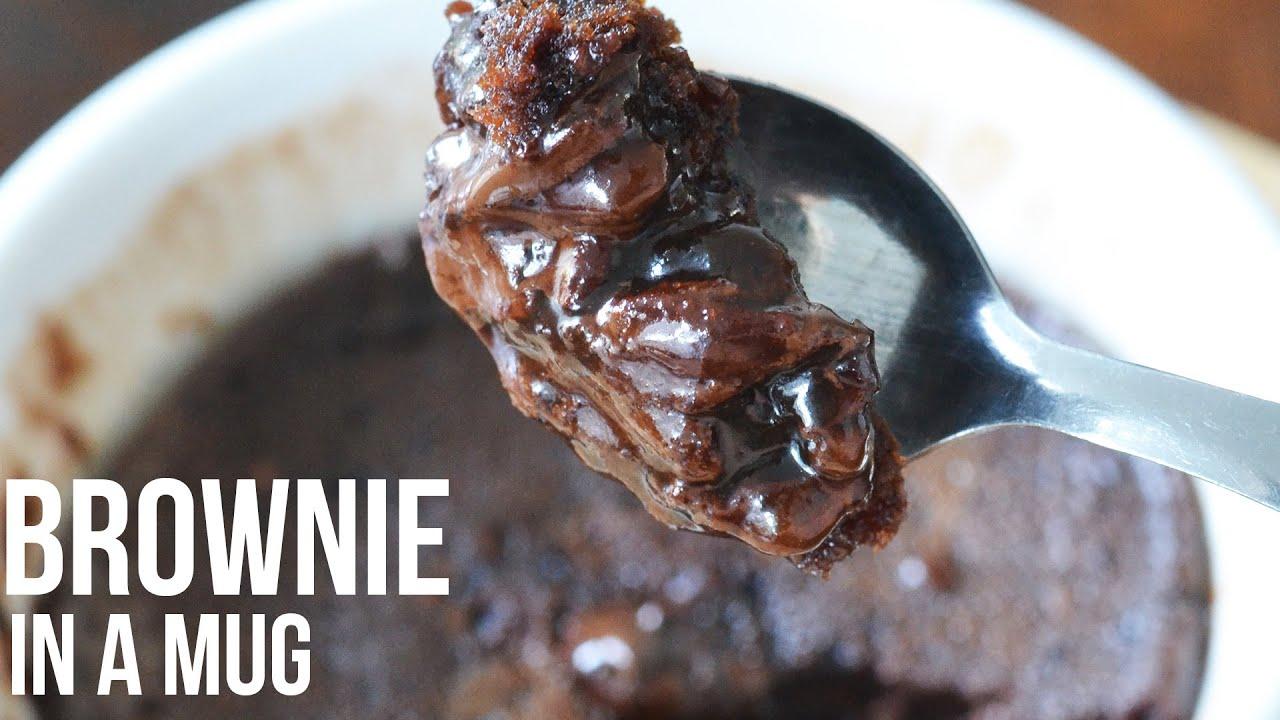 how to make a brownie in a mug youtube