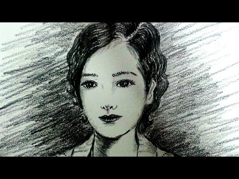 Pencil drawing tutorial/drawing face/easy portrait for beginners/pencil sketch drawing thumbnail