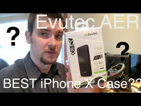 Evutec AER Karbon -  iPhone X Case Review in 4K - Real Kevlar Carbon Fibre In Depth - Best Case???