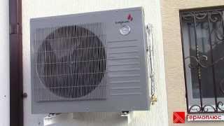 Тепловой насос воздух вода(Обзор мини котельной для отопления частного дома на базе теплового насоса воздух-вода AVH-24V1DB смонтированно..., 2013-12-07T09:08:05.000Z)