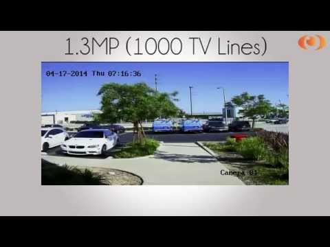 Laview USA Camera Video Comparison 1.3MP (1000), 700, 520 TV Lines Cameras