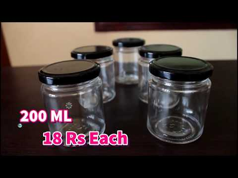 Glass jars shopping haul/ From where can we purchase glass jars for cheap price