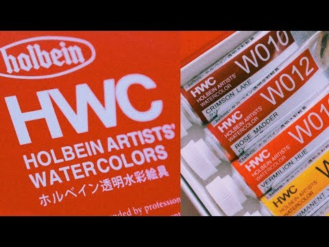 HOLBEIN WATERCOLORS // RELAXING PALETTE SETUP + SWATCHES//