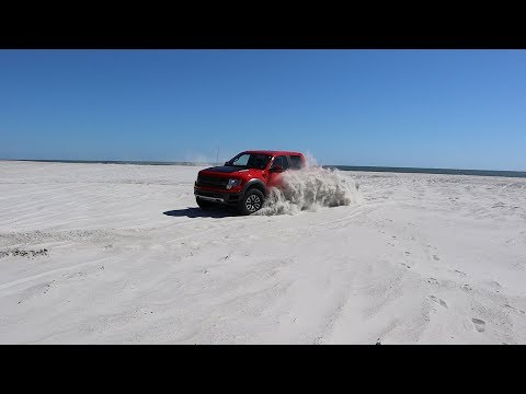 BEACH OFF-ROADING IN A FORD RAPTOR