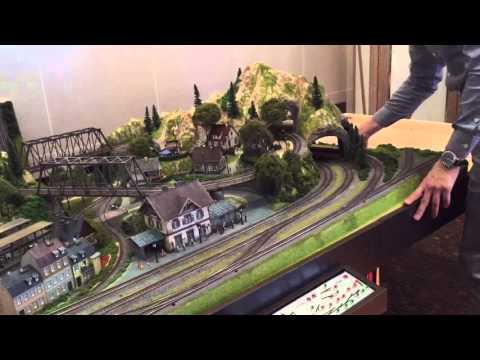"""Финальныи монтаж макета021 """"Город Гранд Шмидт"""" апрель 2016 железная дорога для дома"""