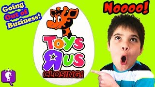 """TOYS """"R"""" US SURPRISE EGG! HobbyKids Toy Haul at Toy Store"""