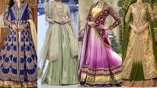 Latest Jacket Bridal Lehenga for weddings, reception, Shadi Party, Mehendi 2018