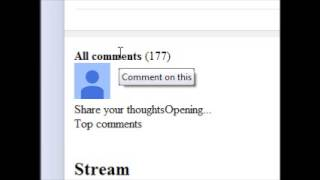 opera can't read Youtube comments workaround, not perfect