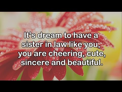 Happy Birthday to My Sister in Law || Birthday Wishes for sister in law