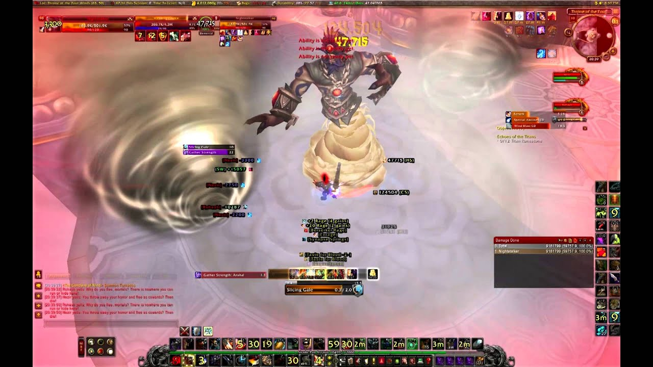 Solo: Conclave of Wind || Arms Warrior (world first) lvl90