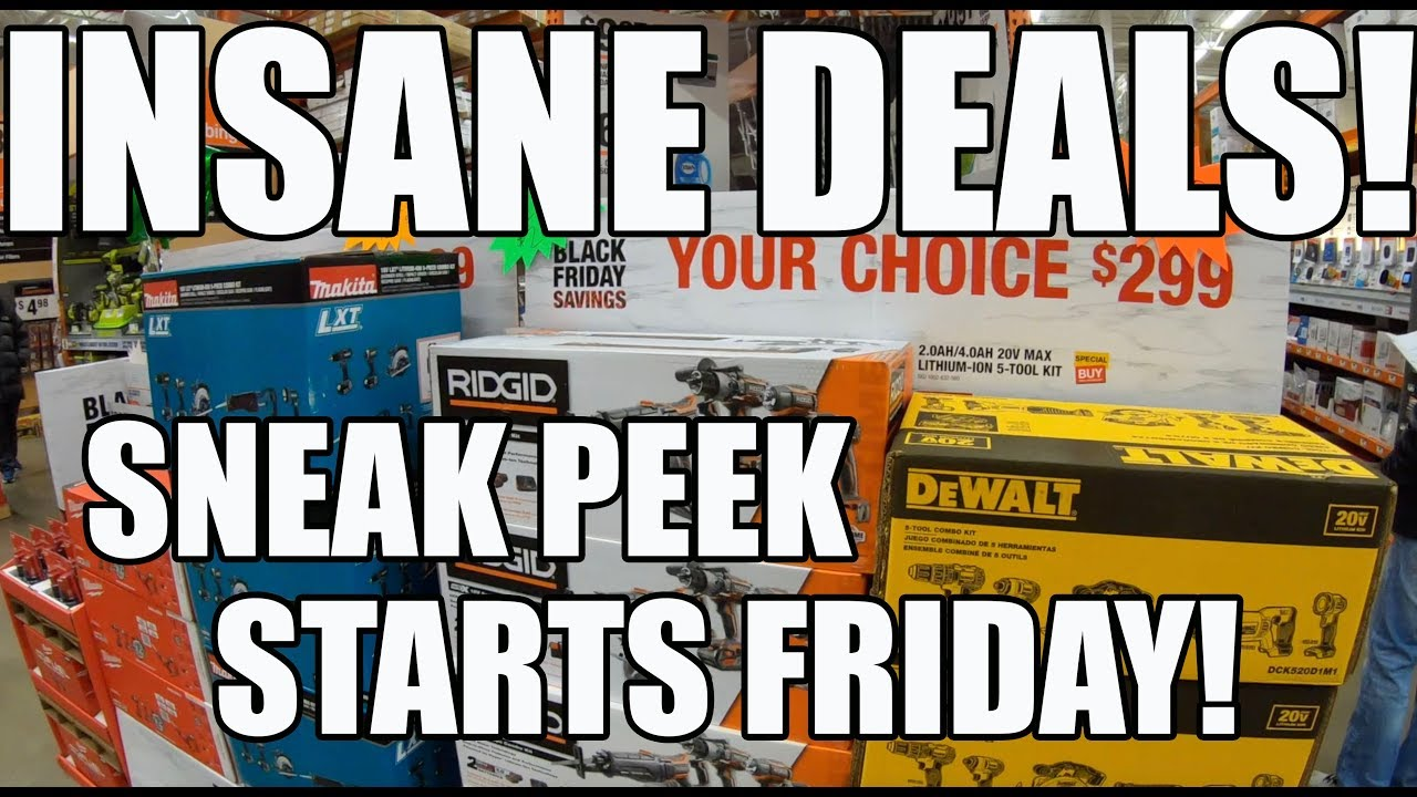 Home Depot Black Friday We Got Early Access