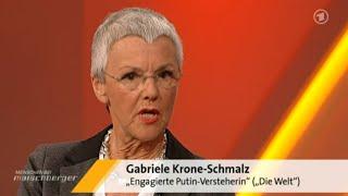 Mutige Journalisten (G. Krone-Schmalz) bietet Kriegshetzern die Stirn