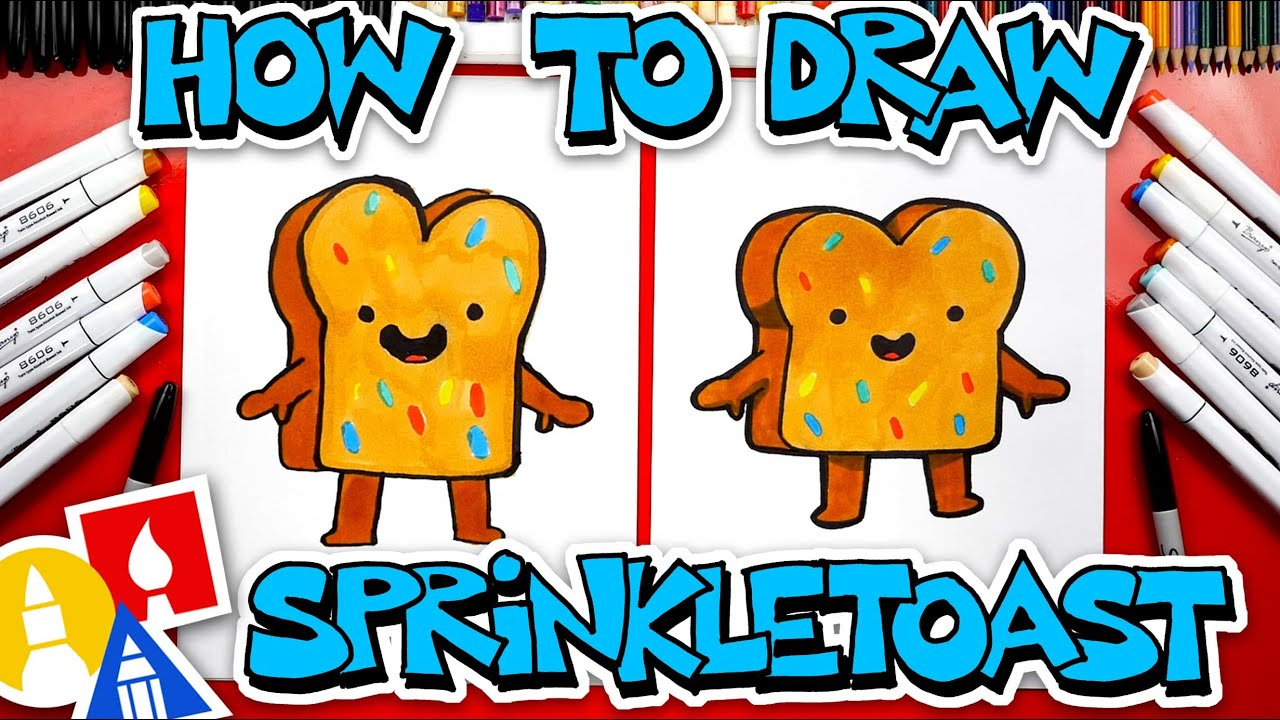 How To Draw Sprinkle Toast From YouTube Kids - YouTube