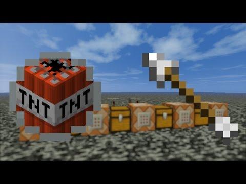TNT снежок TNT стрела.Крутые команды для командных блоков. Minecraft.