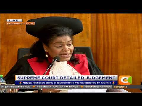 Supreme Court Judge Njoki Ndungu reads out detailed judgemen