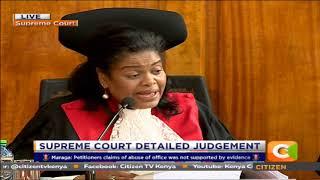 Supreme Court Judge Njoki Ndungu reads out detailed judgement