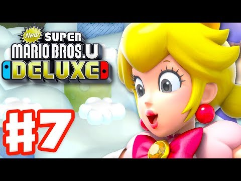 New Super Mario Bros U Deluxe - Gameplay Walkthrough Part 7 - Meringue Clouds! (Nintendo Switch)