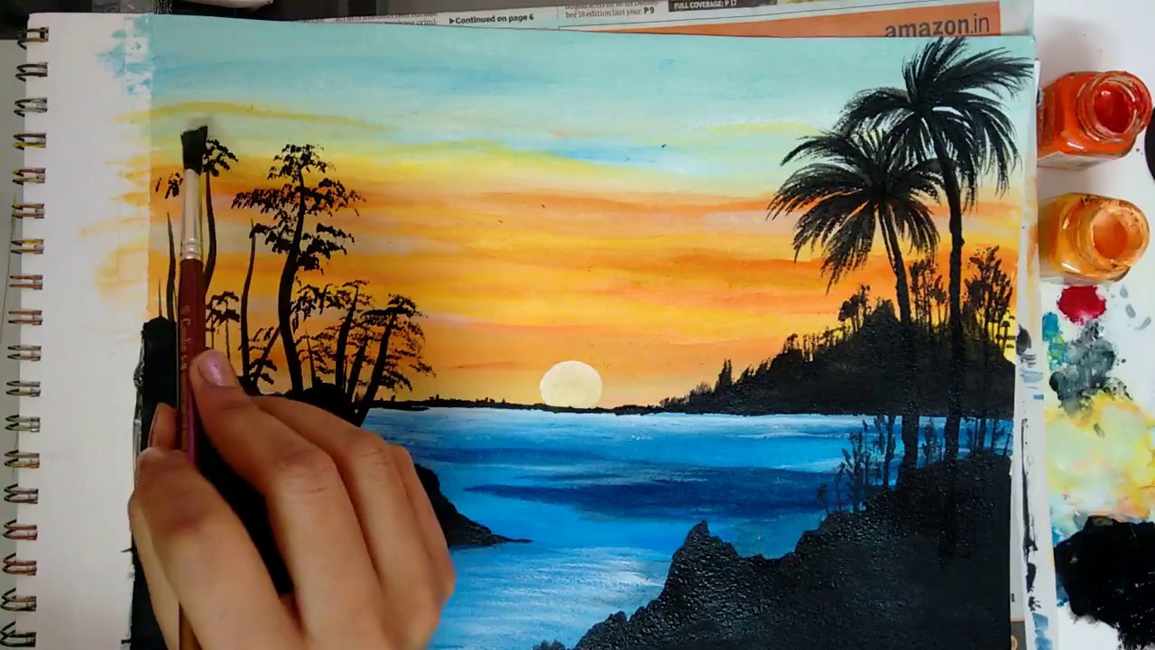 How To Paint A Beautiful Scenery Painting