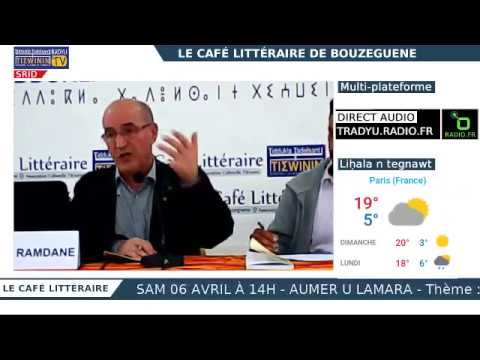 Le Café littéraire : Timlilit akked/Rencontre avec Ramdane Achab - SRID / LIVE