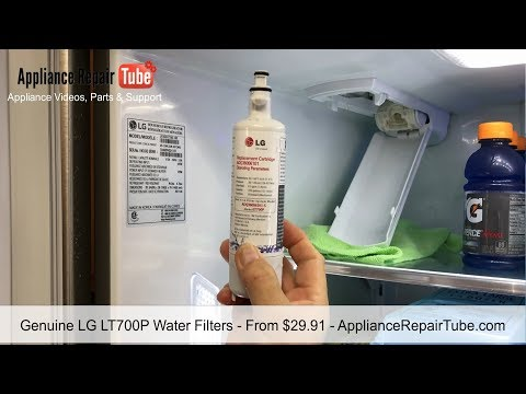 How To Replace LG Refrigerator Water Filter LT700P Video