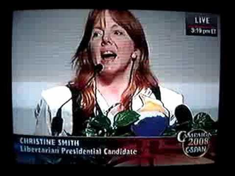 LP CHEERS for Christine Smith speech opposing Bob Barr