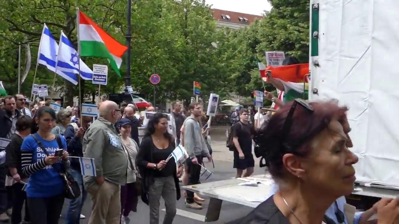 No Al Quds Tag 2017 / Pro Israel Demo in Berlin - YouTube