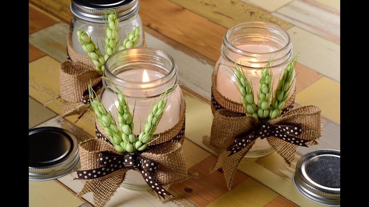 Manualidad c mo hacer velas para decorar los ba os y - Centros para decorar mesas ...