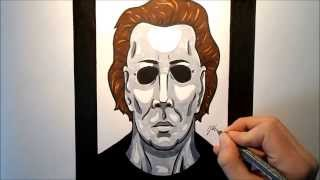How To Draw Michael Myers (Halloween)