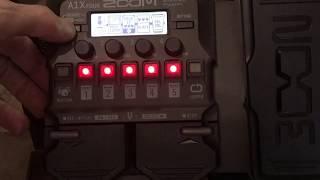 Zoom A1x Four - A1 Four Acoustic Guitar Multi Pedal Review