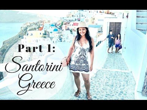 Part 1: 2014 Things To Do In Santorini Greece Fira Travel Vlog / Walking Tour / Follow Me Around