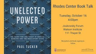 Baixar Paul Tucker – Unelected Power: The Quest for Legitimacy in Central Banking and the Regulatory State