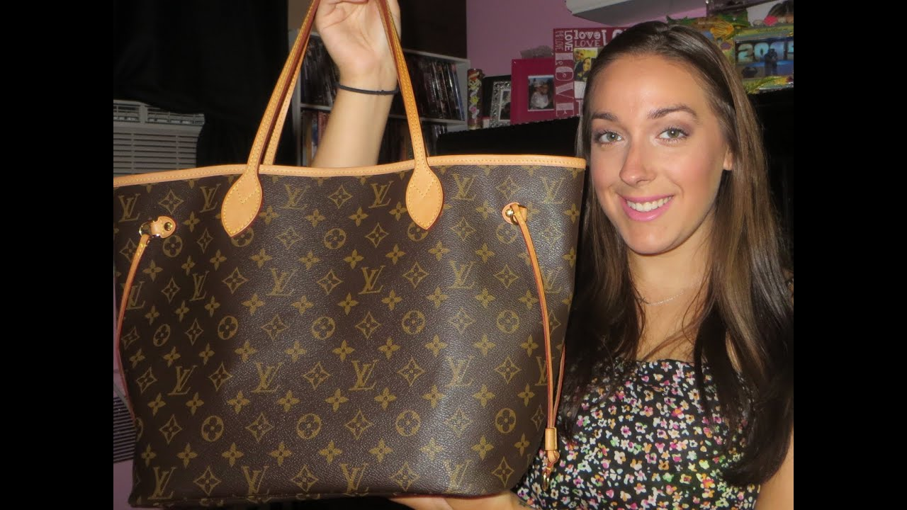 6e27166cdad8 What's In My Bag?! Louis Vuitton Neverfull MM - YouTube