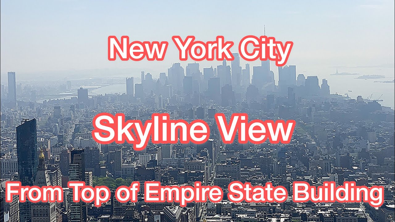 Skyline views of New York City from the Top of Empire State Building - 86th Floor Observation Deck