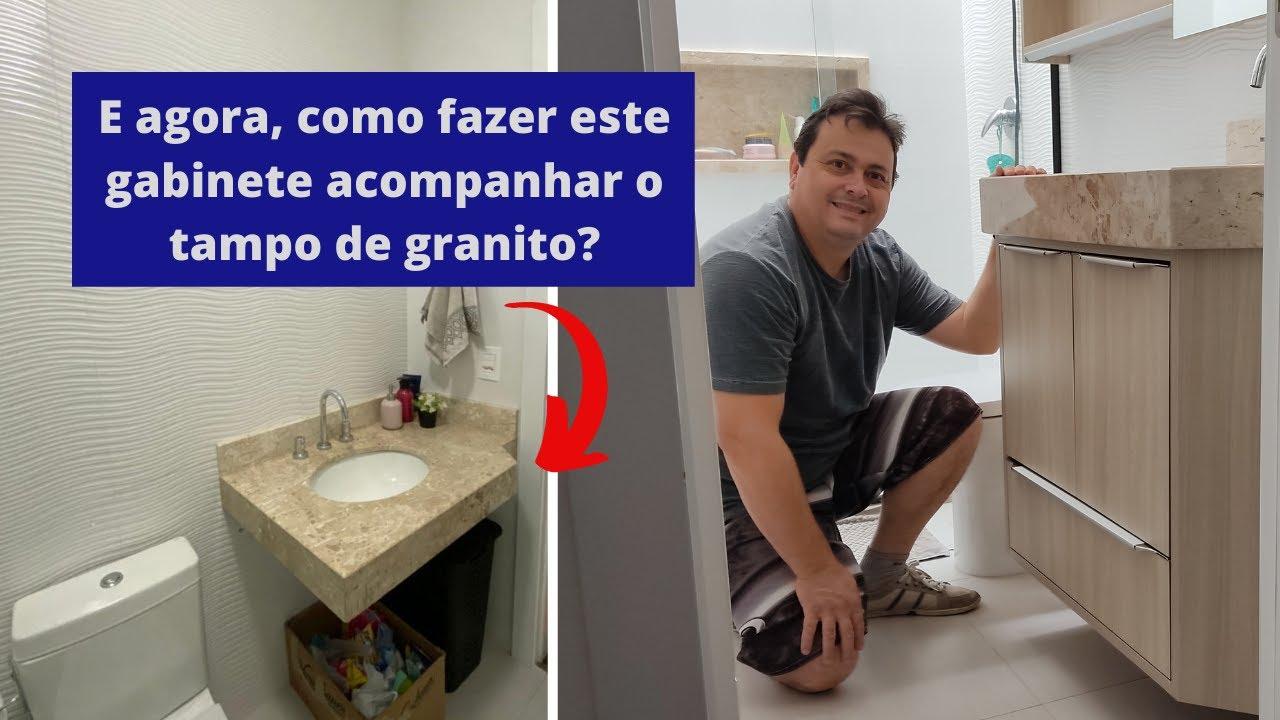 Como fazer um gabinete para banheiro acompanhando o tampo de granito